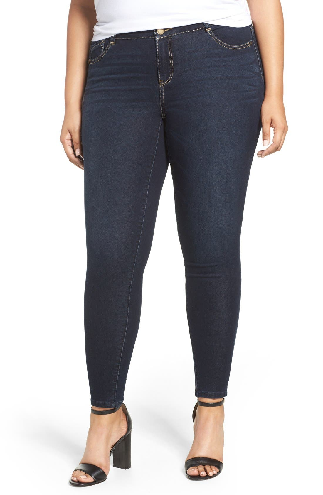 Alternate Image 1 Selected - Wit & Wisdom Stretch Skinny Jeans (Plus Size) (Nordstrom Exclusive)