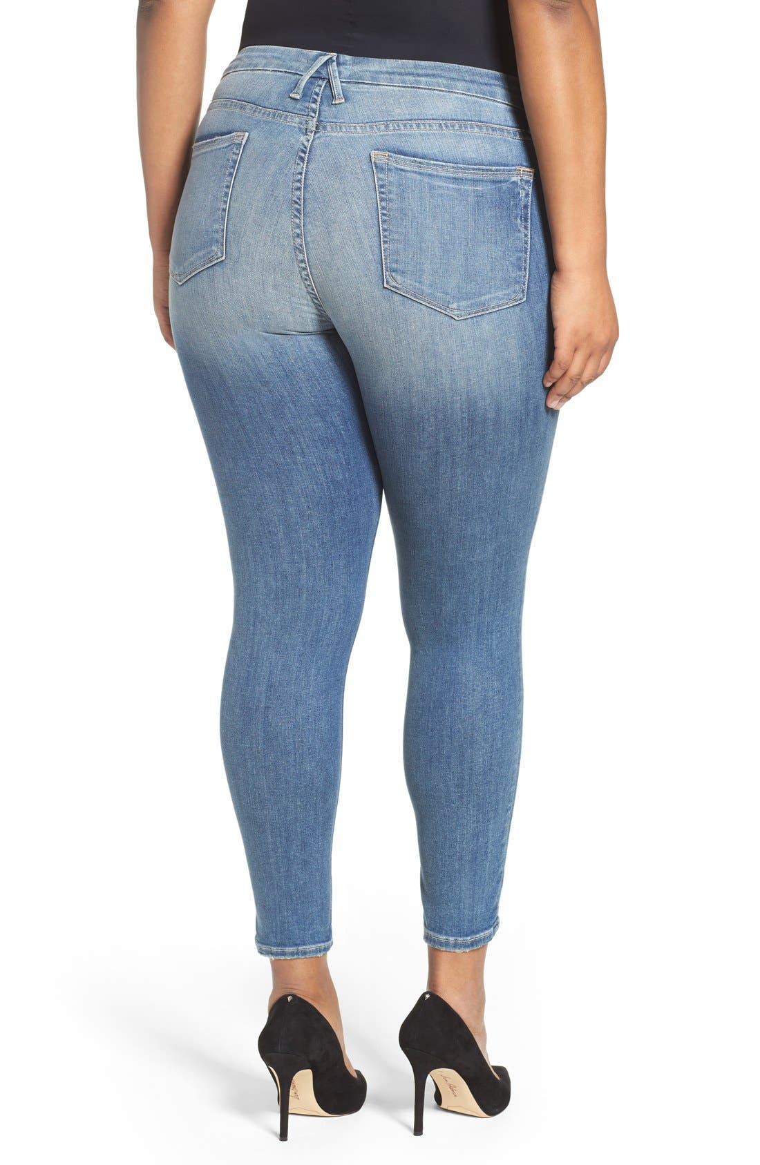 Good Legs High Rise Crop Skinny Jeans,                             Alternate thumbnail 7, color,                             Blue 010
