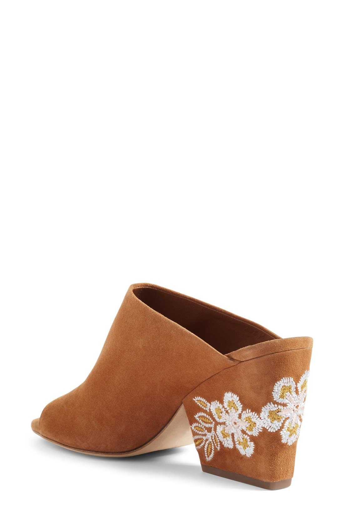 Alternate Image 2  - Tory Burch Embroidered Floral Mule (Women)