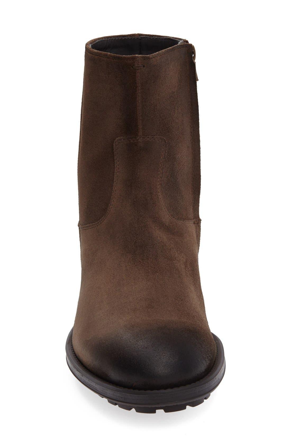 'Harrison' Zip Boot,                             Alternate thumbnail 3, color,                             Brown