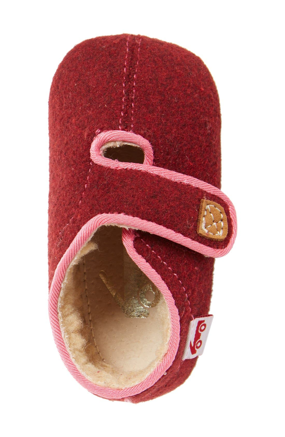 Alternate Image 3  - See Kai Run Cruz Faux Shearling Crib Slipper (Baby)