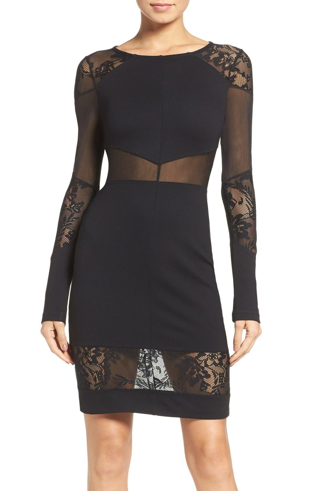 Tatlin Body-Con Dress,                         Main,                         color, Black