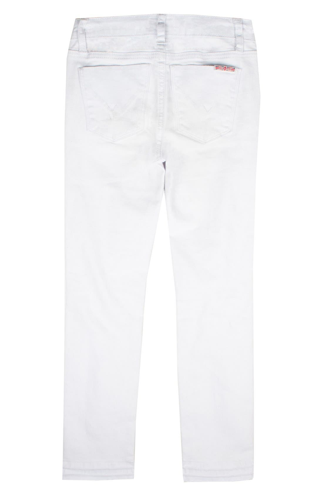 Seaside Crop Skinny Jeans,                             Alternate thumbnail 2, color,                             White Abyss