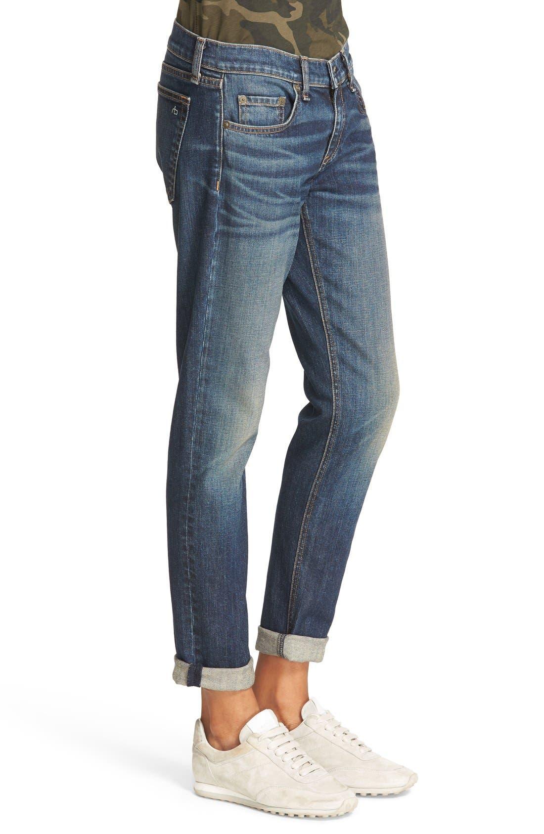 Alternate Image 3  - rag & bone/JEAN The Dre Slim Boyfriend Jeans (Mission)