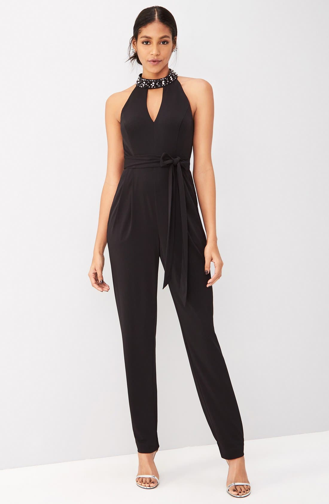 Vince Camuto Jumpsuit Outfit with Accessories
