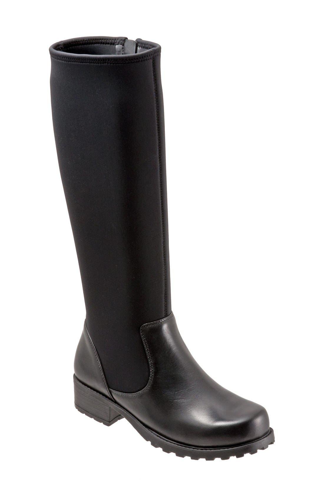 'Biloxi' Boot,                             Main thumbnail 1, color,                             Black/ Black Leather