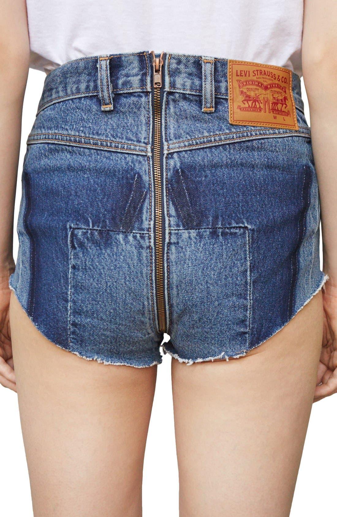 Alternate Image 2  - Vetements x Levi's® Denim Hot Pants