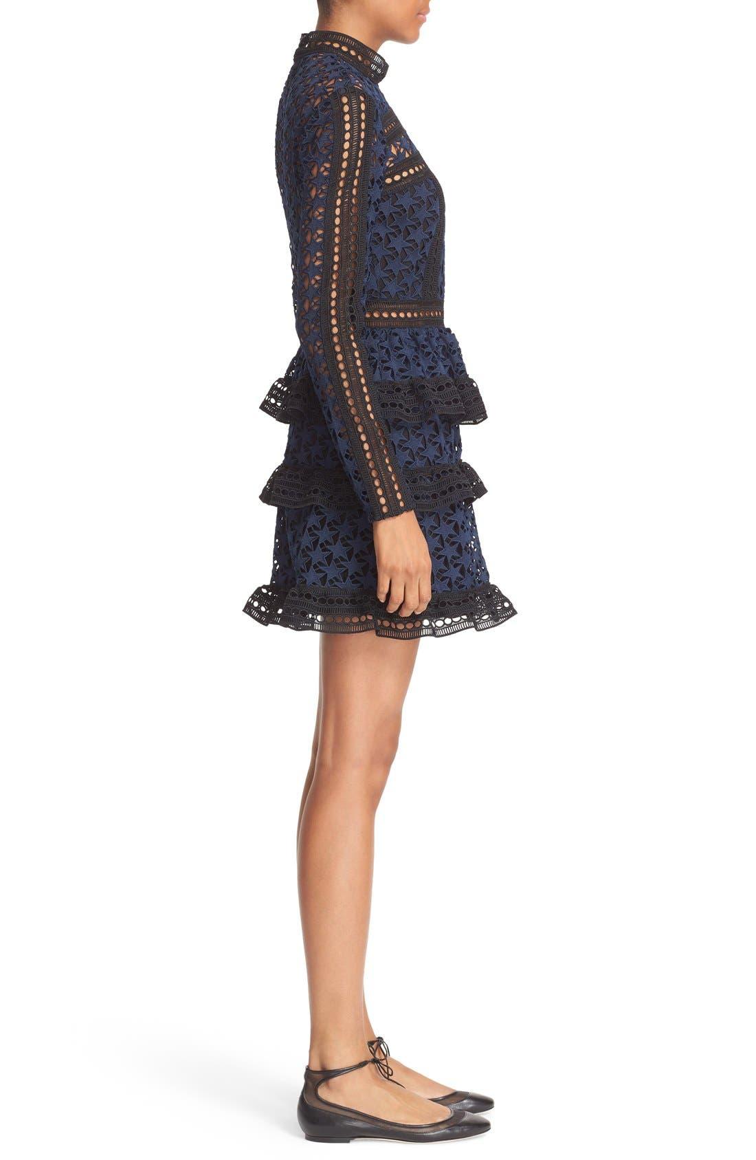 Alternate Image 3  - Self-Portrait Star Lace Tiered Minidress