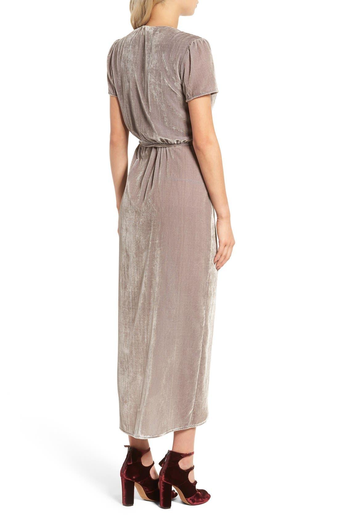 Alternate Image 2  - WAYF Next to You Velvet Wrap Dress