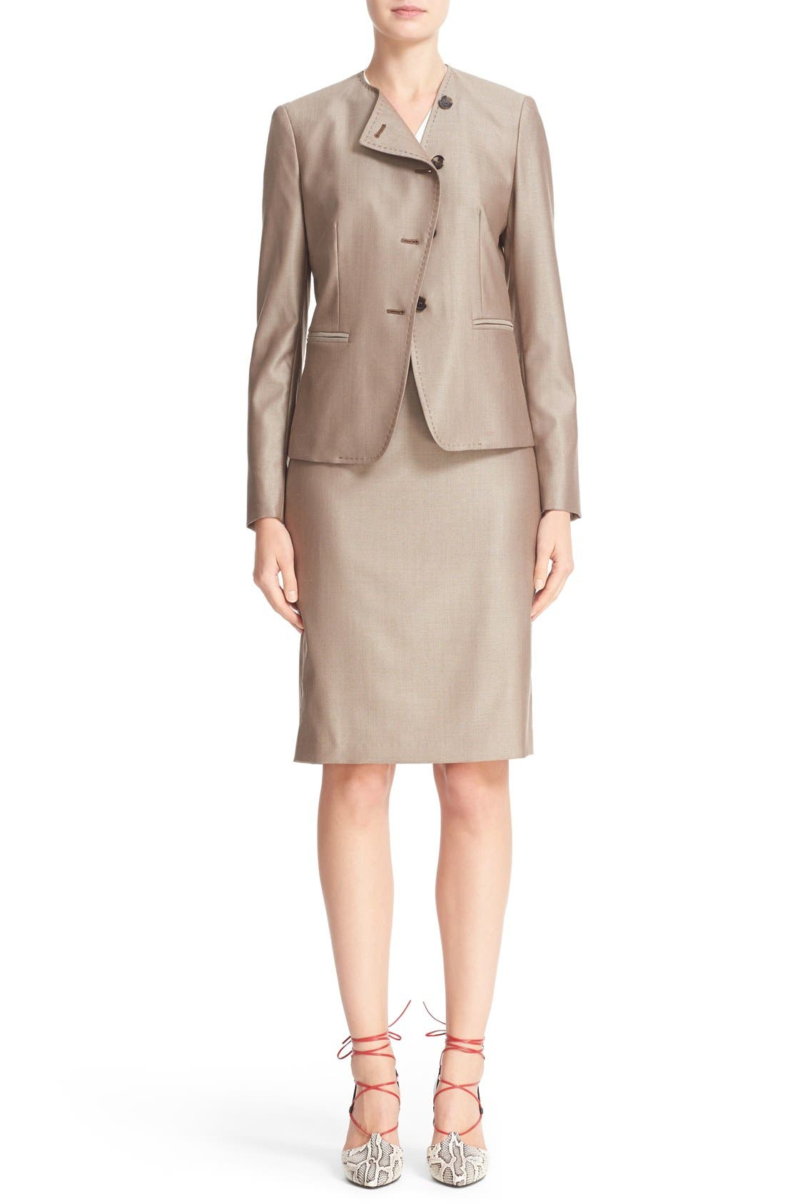 Alternate Image 8  - Max Mara Wool Blend Pencil Skirt