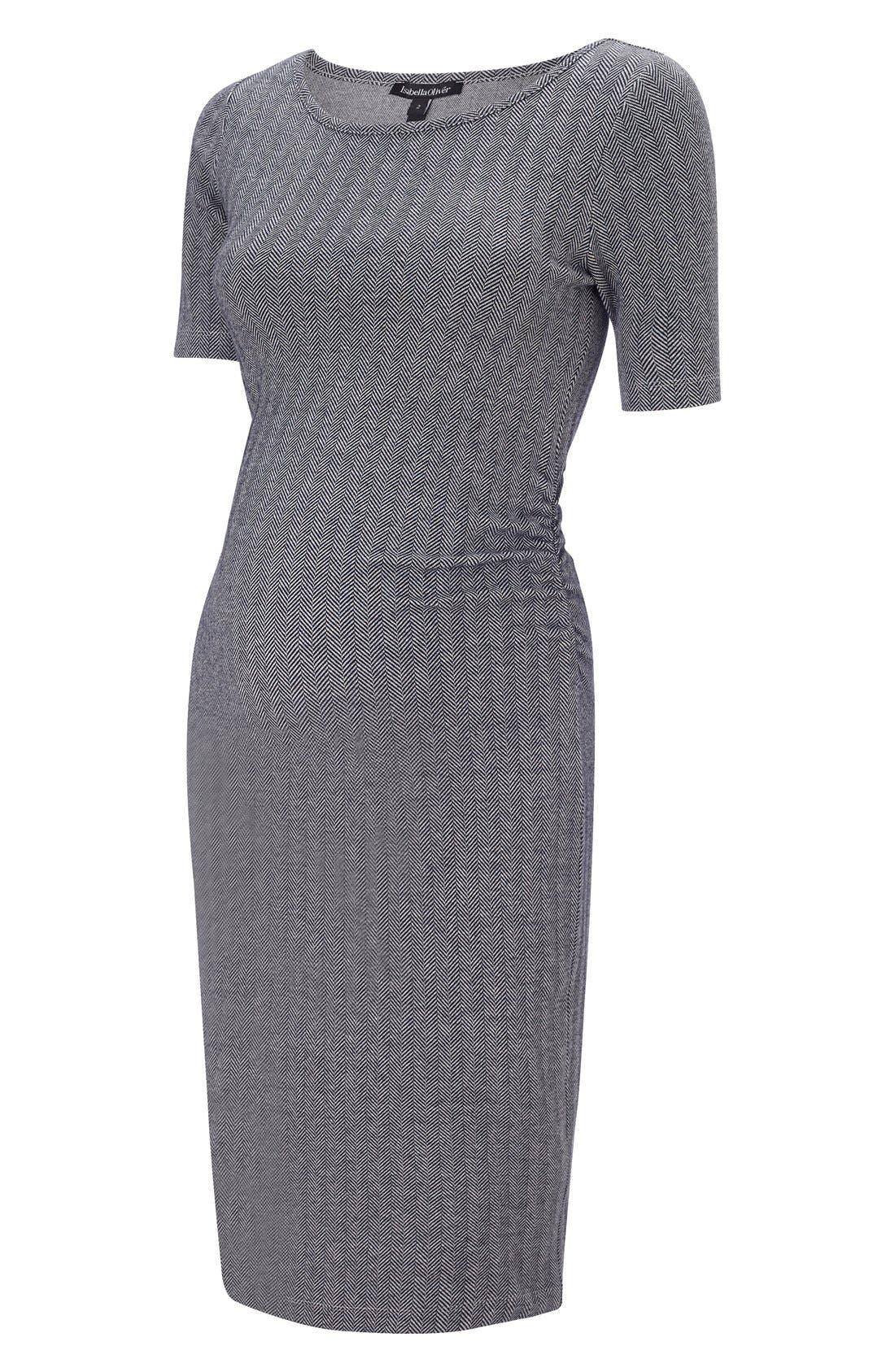 Isabella Oliver Effra Ruched Maternity Dress