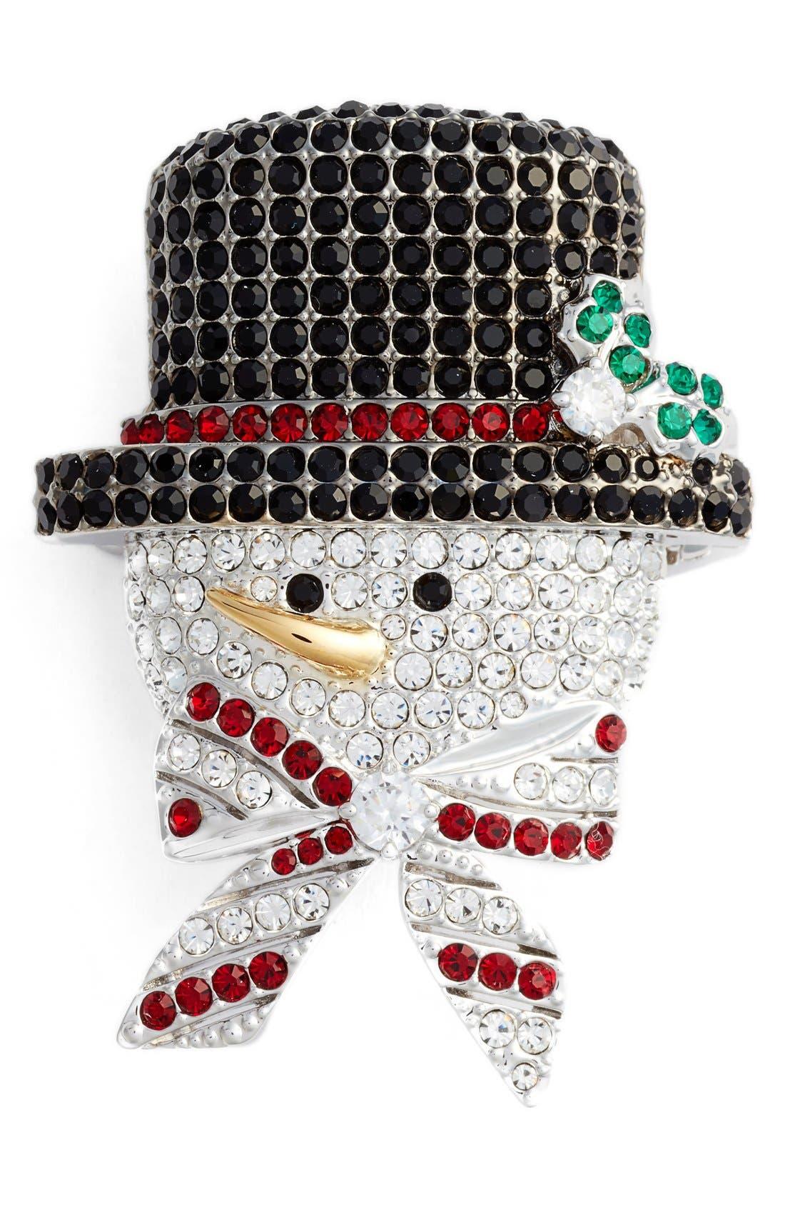 Jolly Snowman Pin,                         Main,                         color, Multi