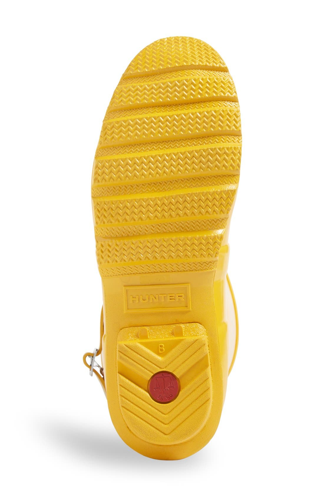 'Original Short' Gloss Rain Boot,                             Alternate thumbnail 4, color,                             Yellow