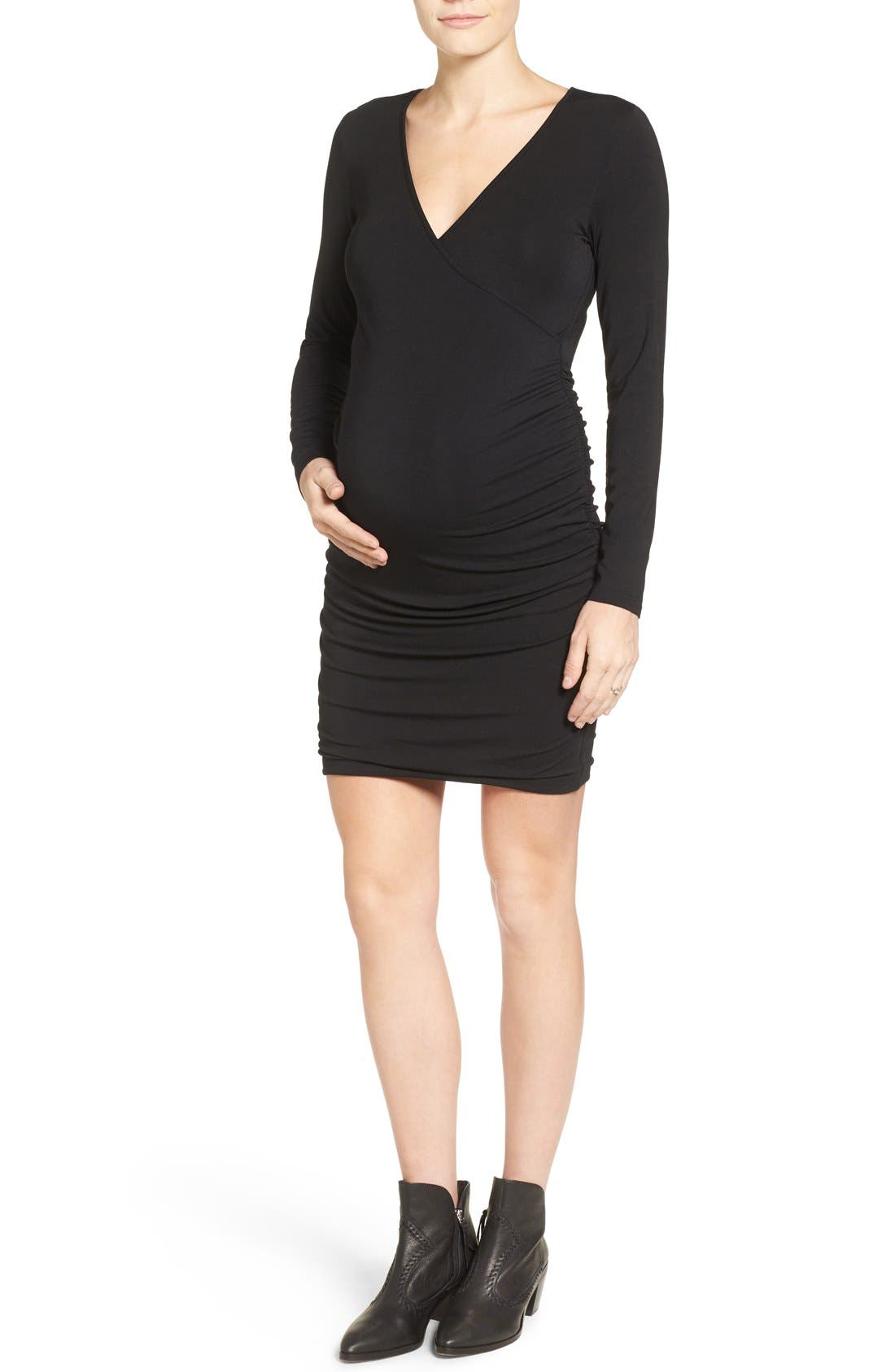 Main Image - Tart 'Peaches' Maternity Body-Con Dress