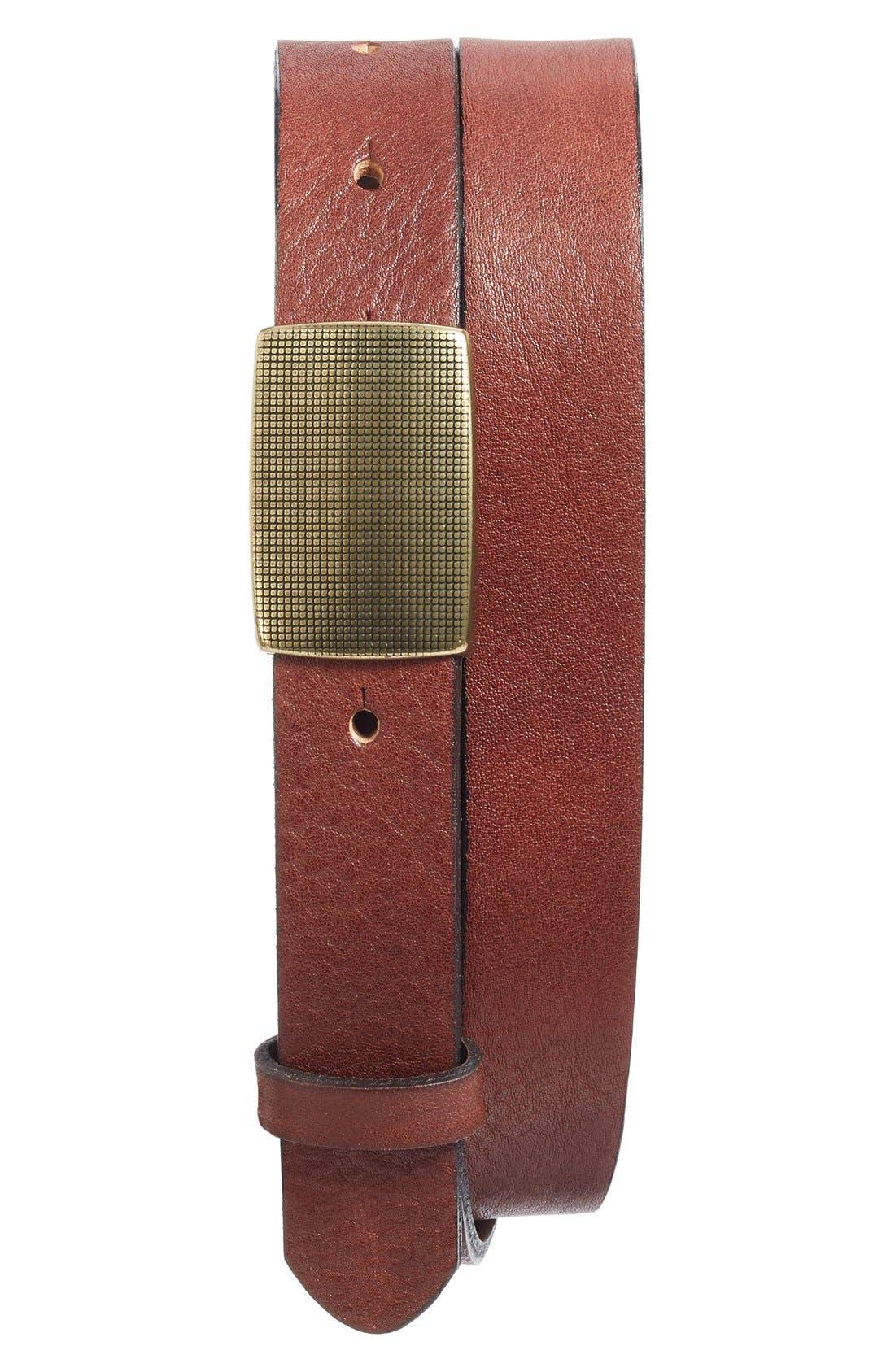 The Donatello Leather Belt,                         Main,                         color, Dark Brown