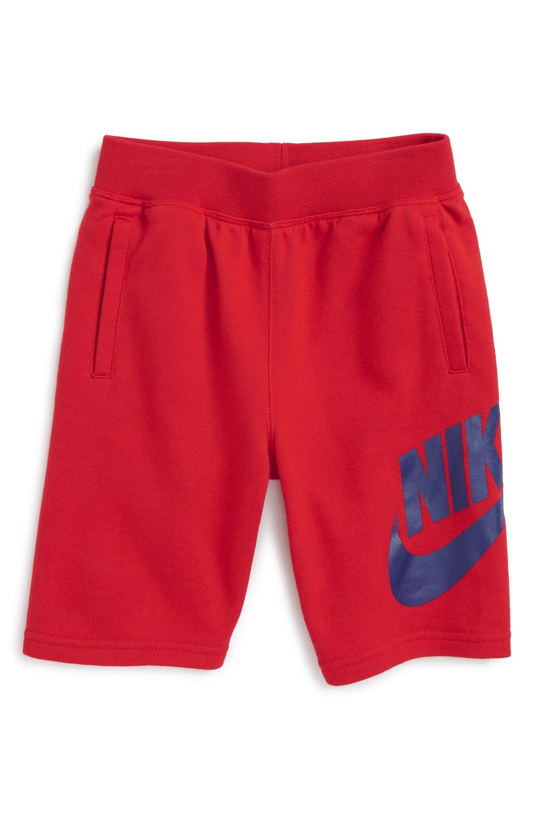 Alumni French Terry Knit Shorts,                         Main,                         color, University Red