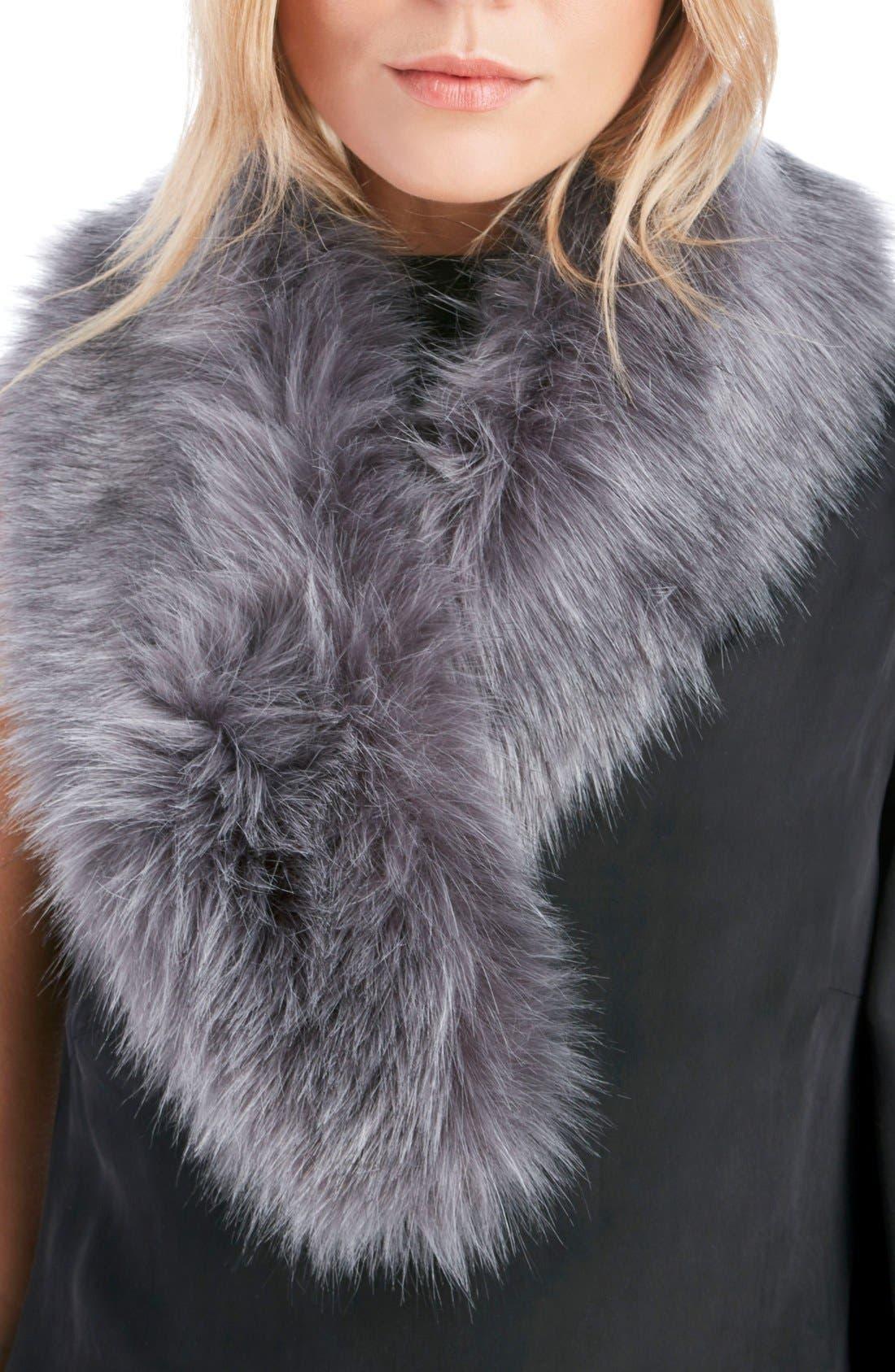 Faux Fur Stole,                         Main,                         color, Grey