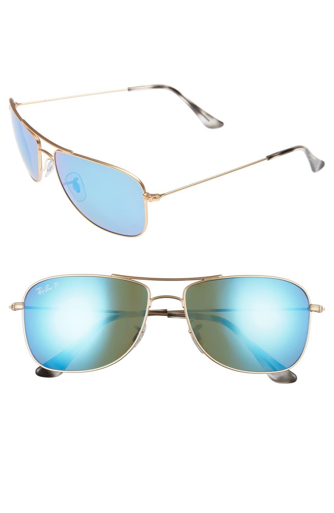Ray-Ban Tech 59mm Polarized Sunglasses