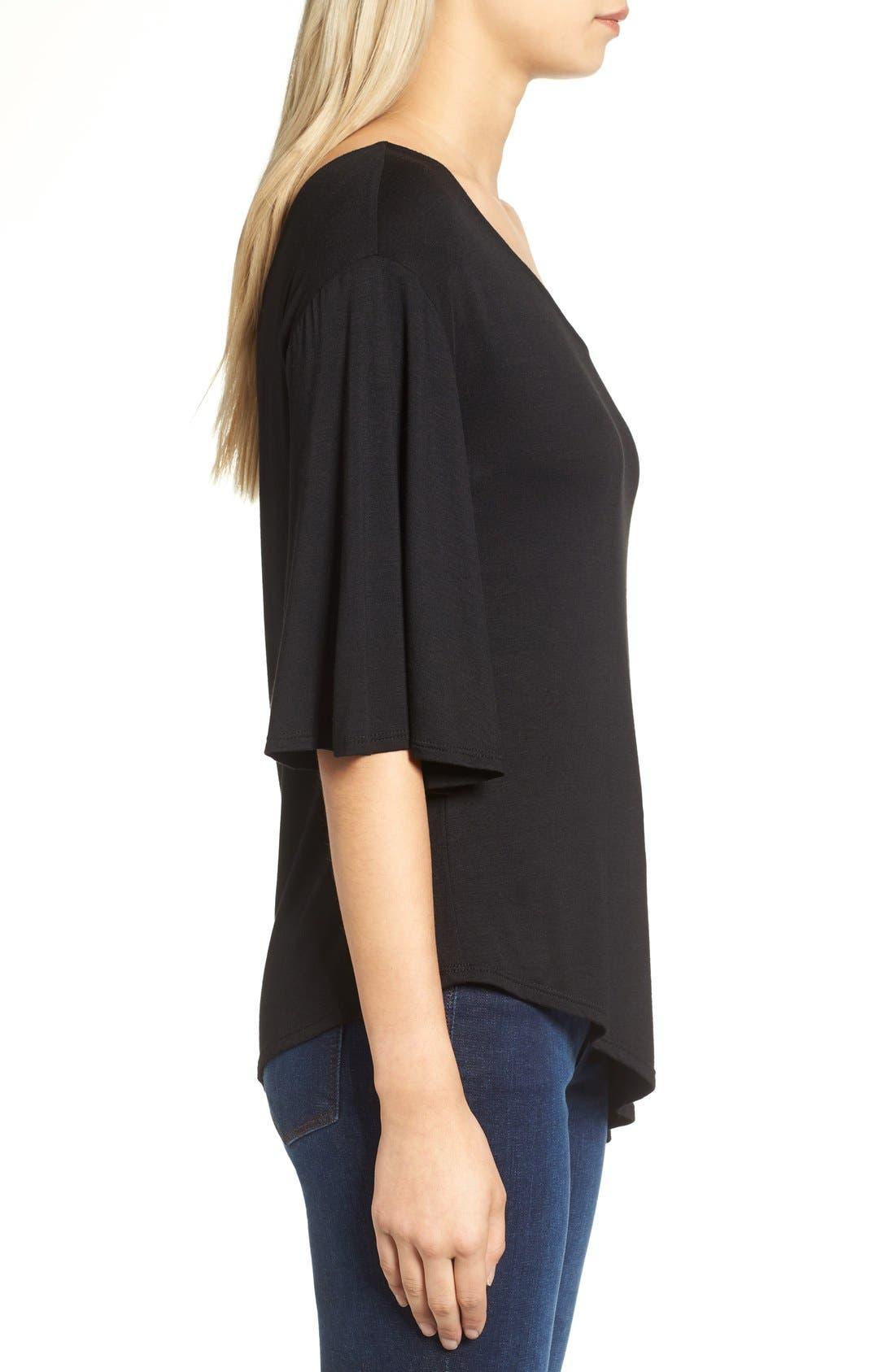 Alternate Image 3  - Ella Moss Bella One-Shoulder Blouse