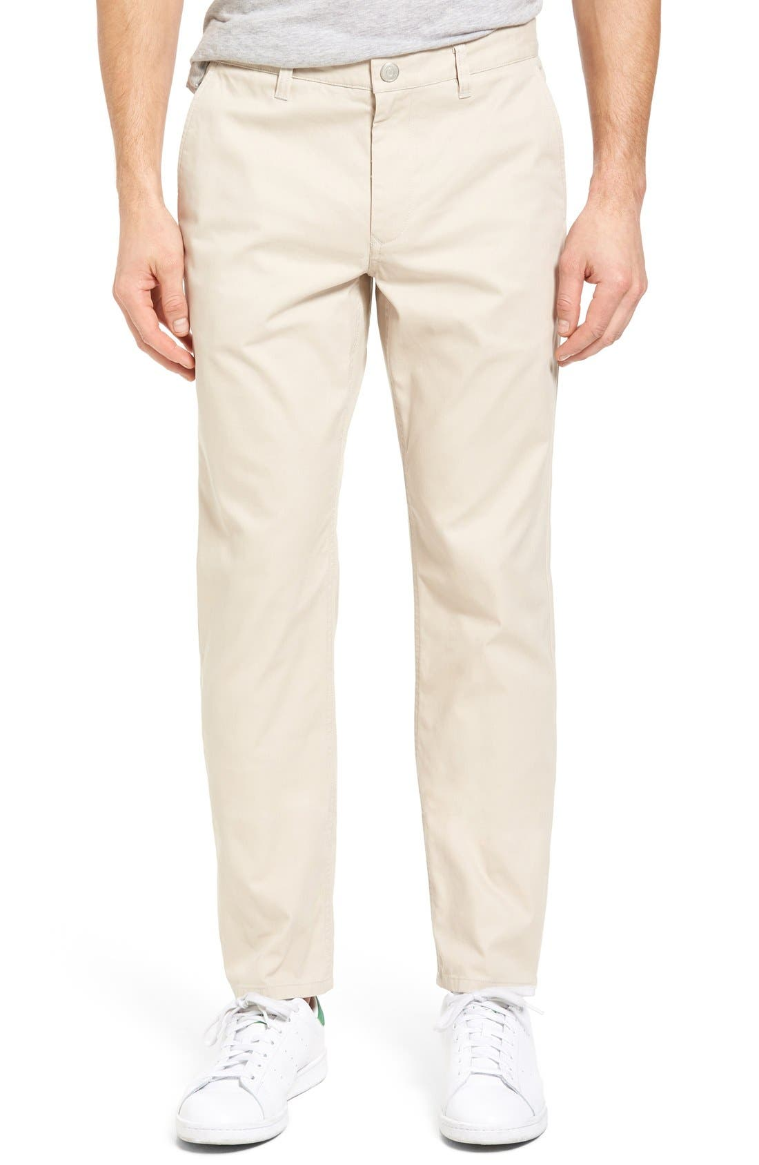 Straight Fit Washed Chinos,                         Main,                         color, Stonecutters