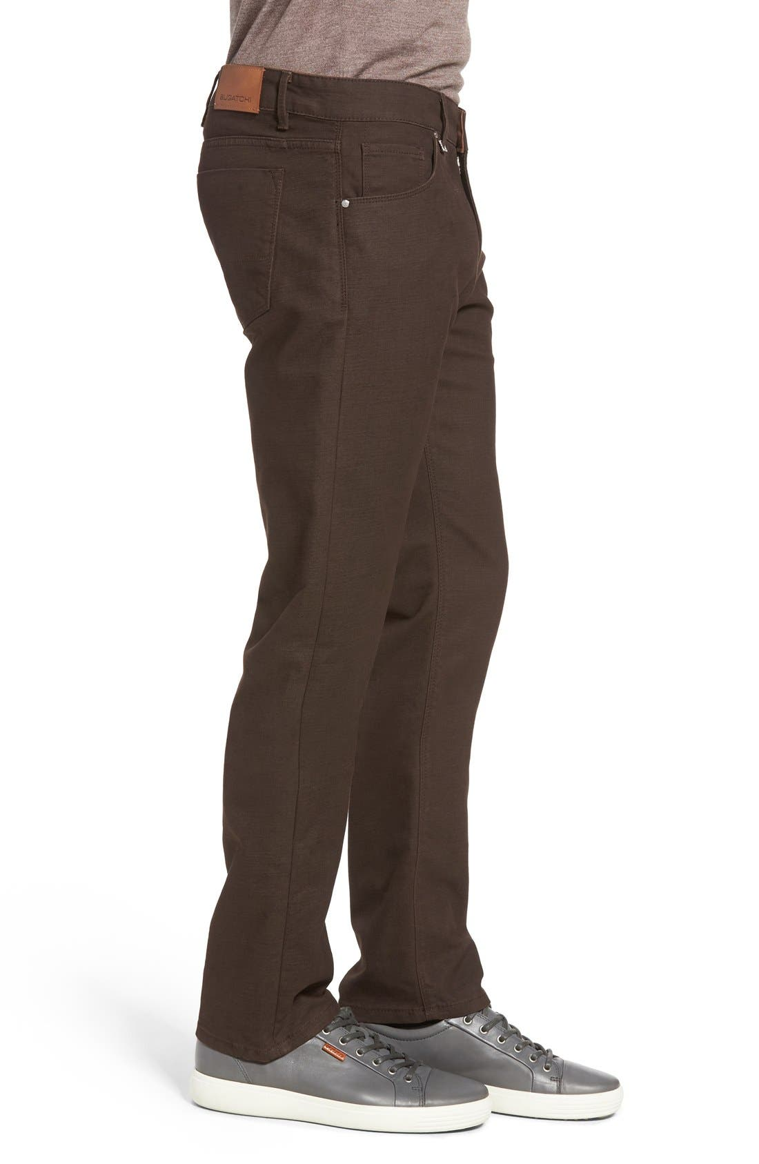 Slim Fit Five-Pocket Pants,                             Alternate thumbnail 3, color,                             Mocha