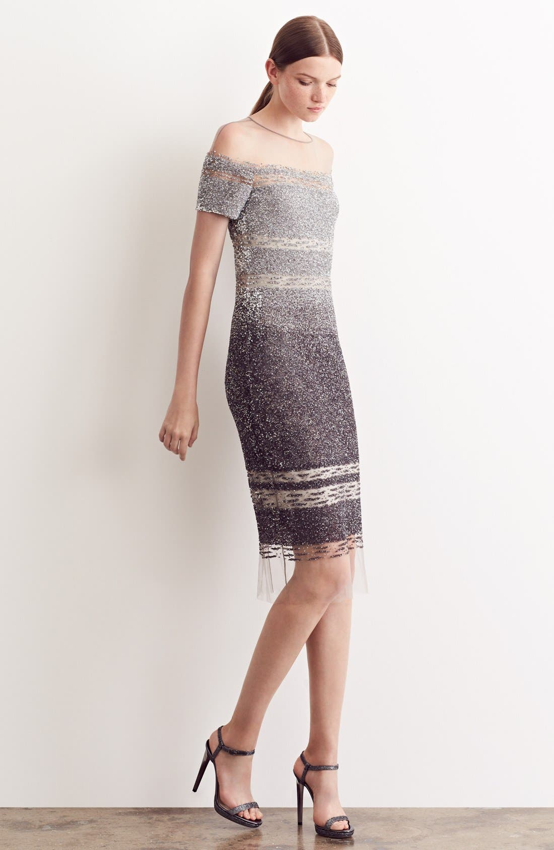 Alternate Image 6  - Pamella Roland Signature Sequin Cap Sleeve Cocktail Dress