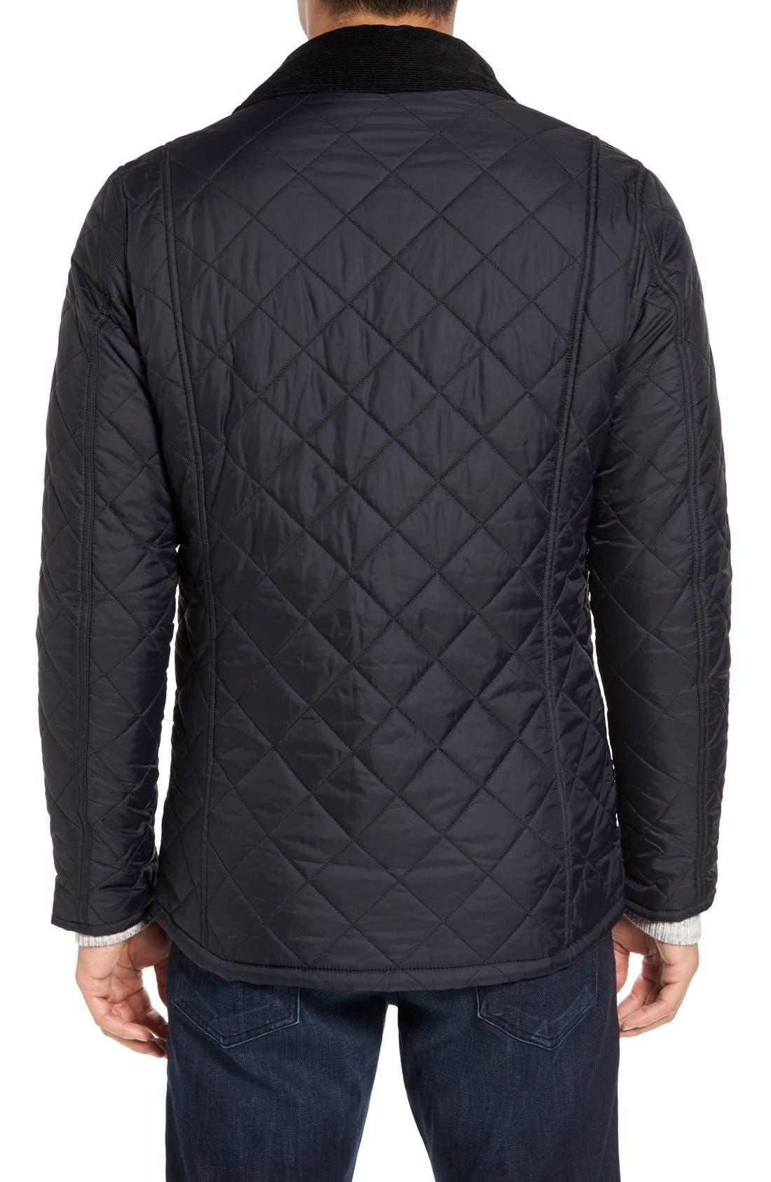 'Akenside' Regular Fit Quilted Jacket,                             Alternate thumbnail 2, color,                             Black