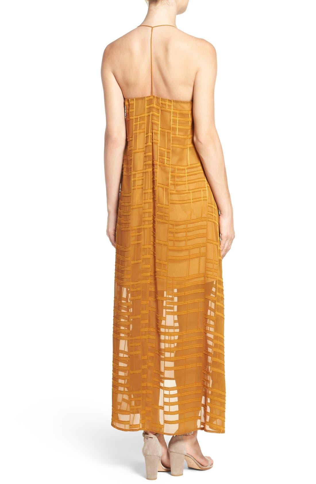 Alternate Image 2  - NSR Embroidered Maxi Dress