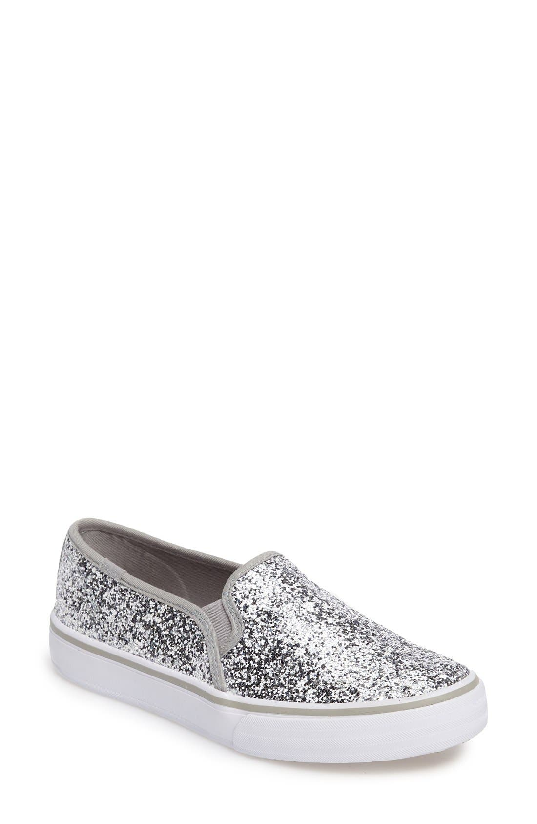 Main Image - Keds® Double Decker Glitter Slip-On Sneaker (Women)