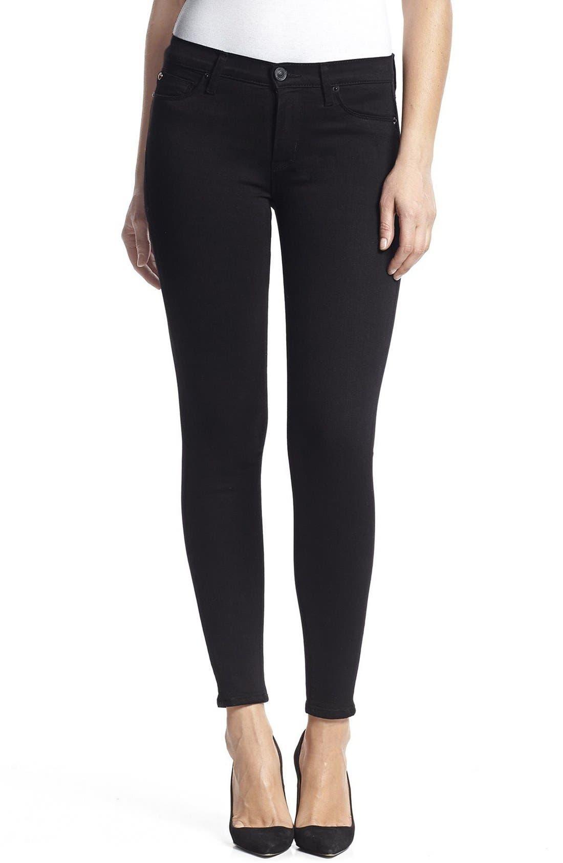 HudsonJeans Nico Super Skinny Jeans,                             Main thumbnail 1, color,                             Black