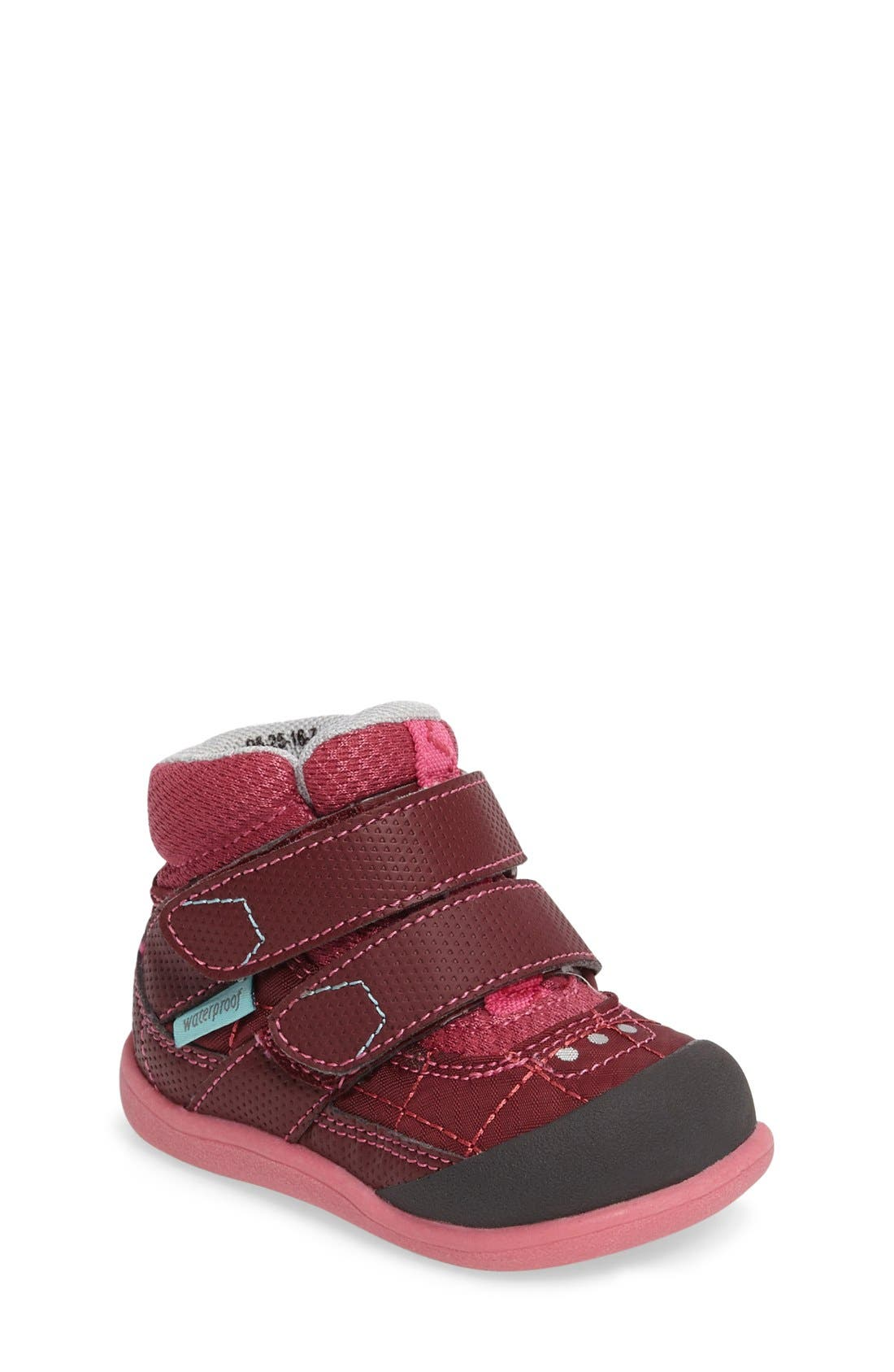 Atlas Waterproof Boot,                         Main,                         color, Burgundy/ Berry