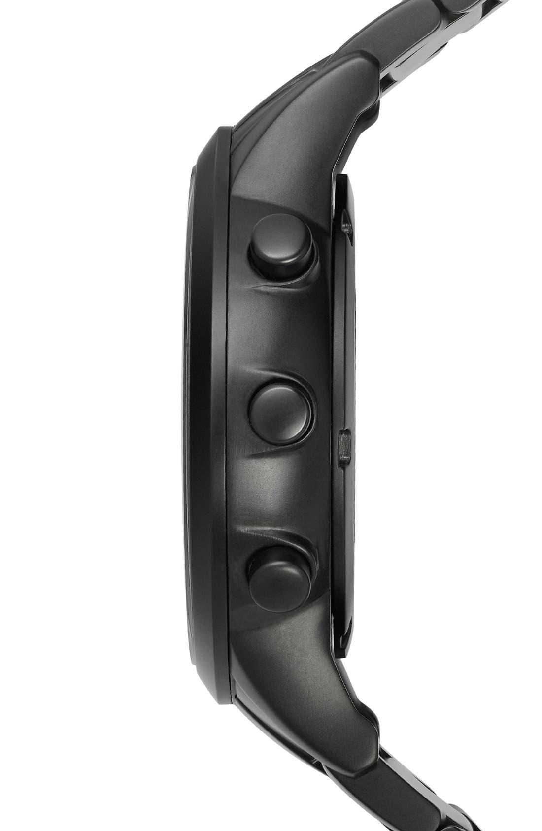 Bracelet Hybrid Smart Watch, 43mm,                             Alternate thumbnail 3, color,                             Black