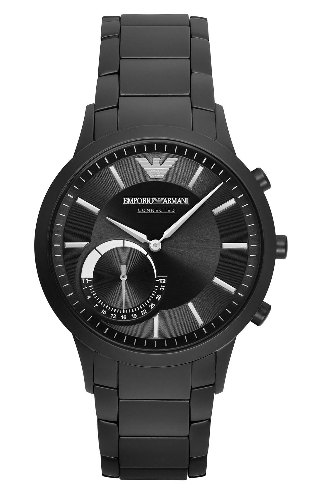 Emporio Armani Bracelet Hybrid Smart Watch, 43mm