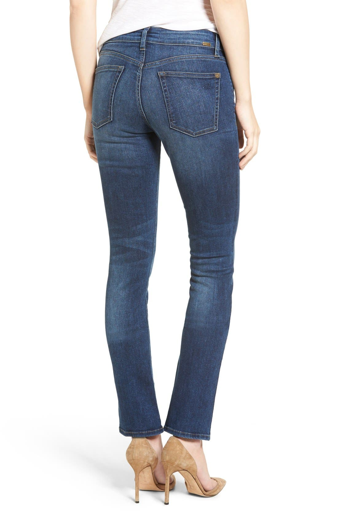 Mara Straight Leg Jeans,                             Alternate thumbnail 2, color,                             Titan