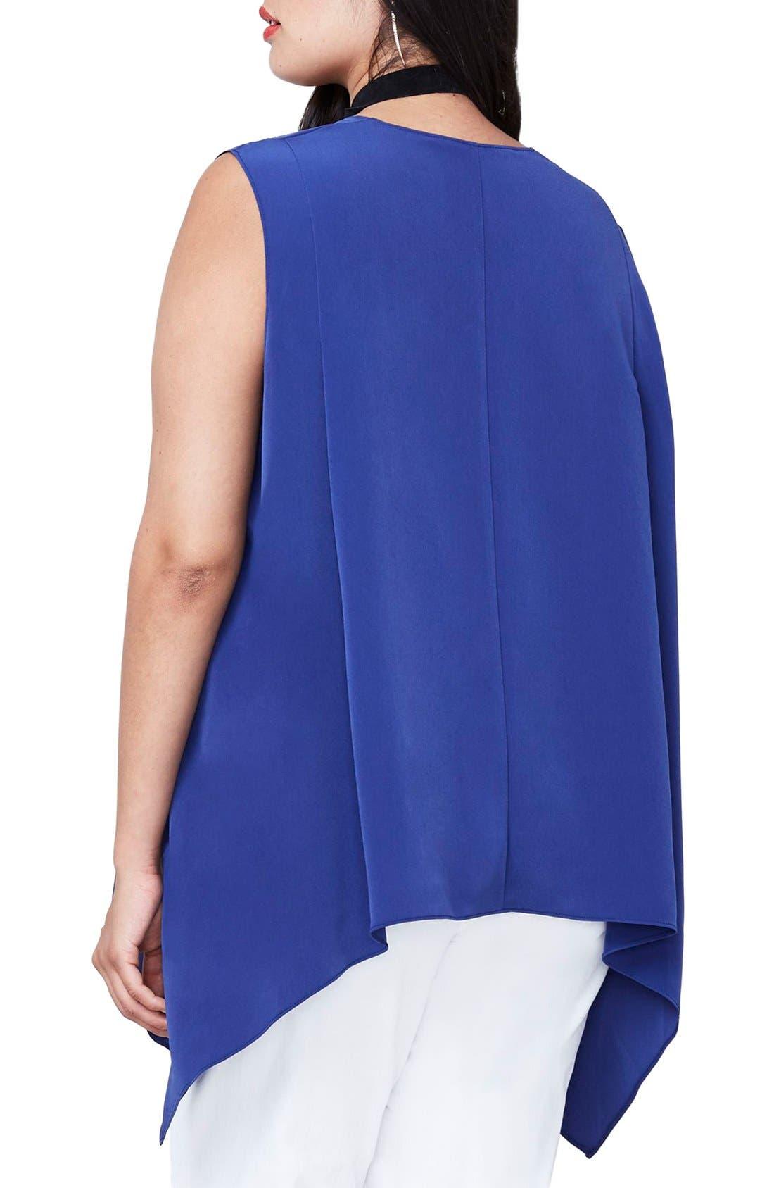 Alternate Image 2  - RACHEL Rachel Roy Side Drape Top (Plus Size)