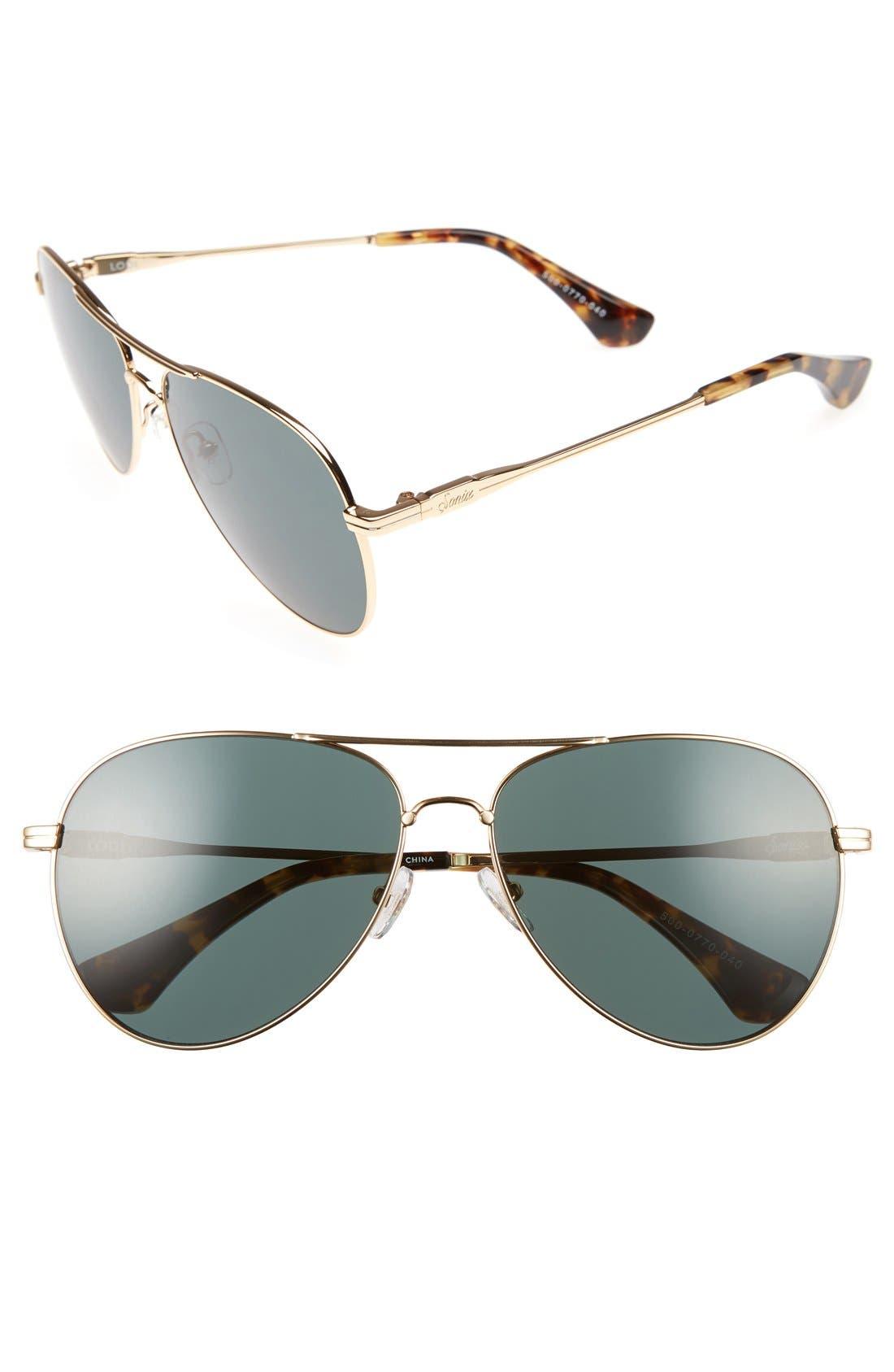 ac3fbc53c6c Sonix Lodi 62Mm Mirrored Aviator Sunglasses - Green Tint  Gold ...