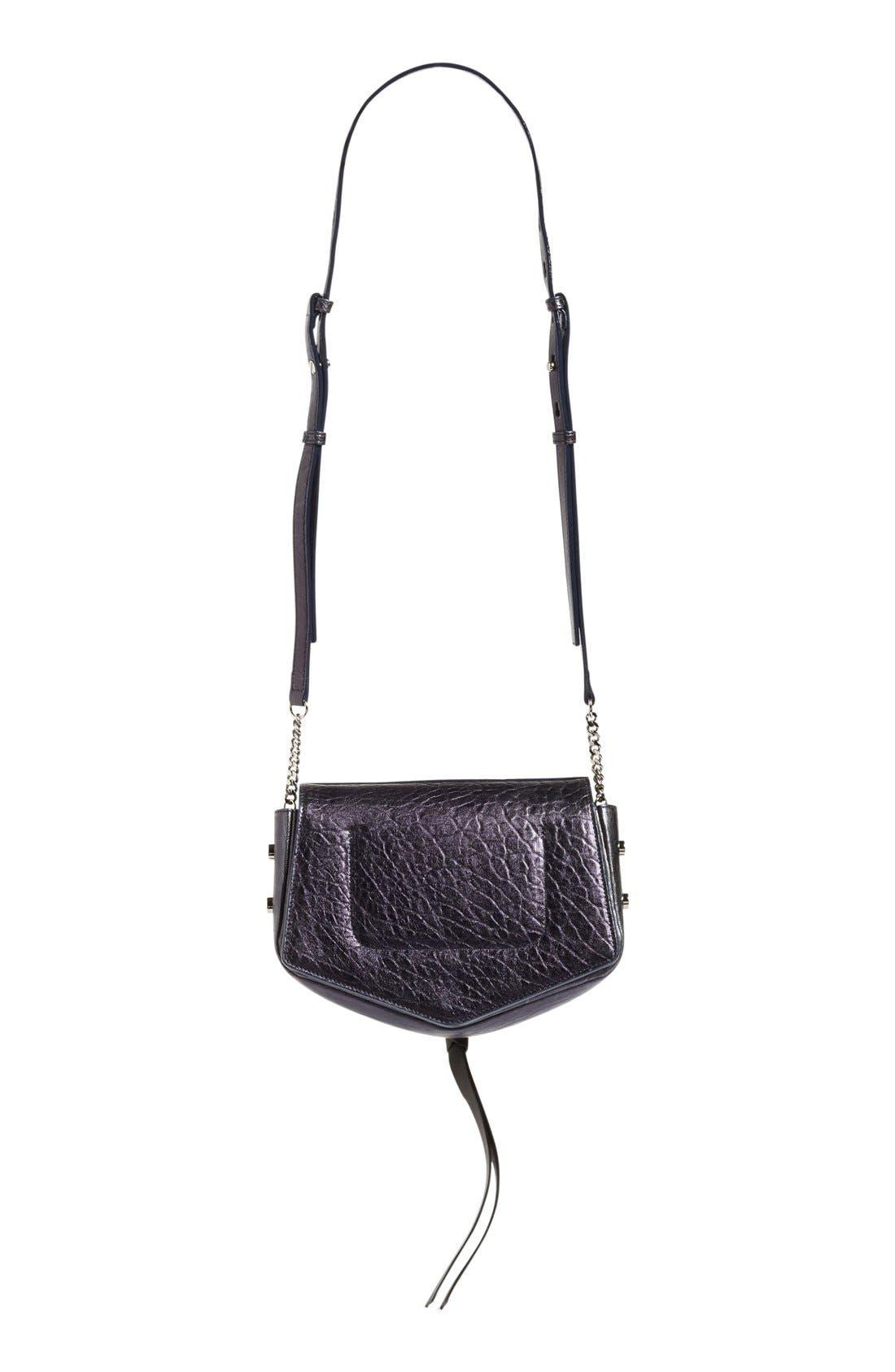 Alternate Image 4  - Jimmy Choo Arrow Metallic Grained Leather Shoulder Bag