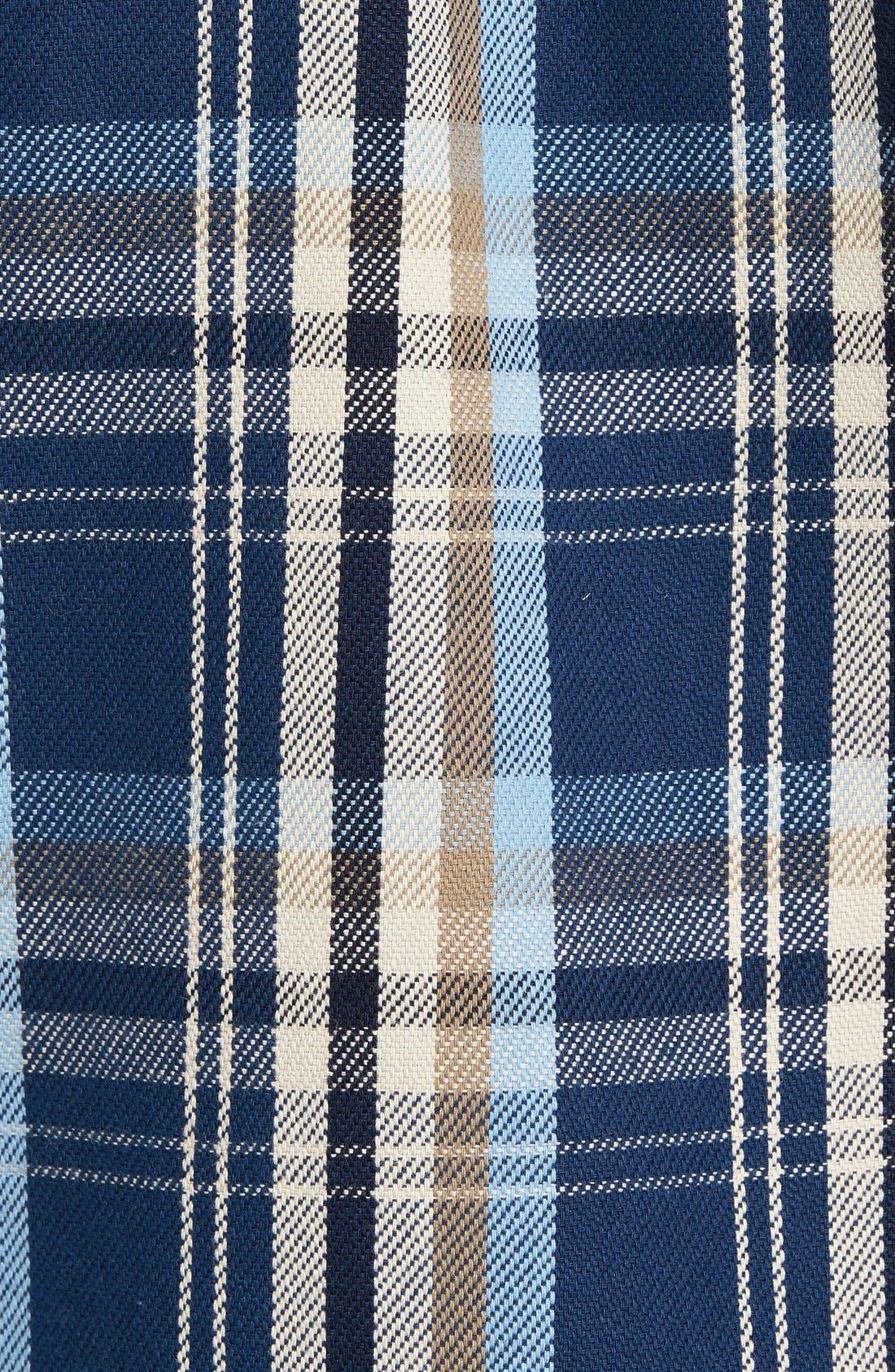 Classic Fit Plaid Flannel Shirt,                             Alternate thumbnail 5, color,                             Blue