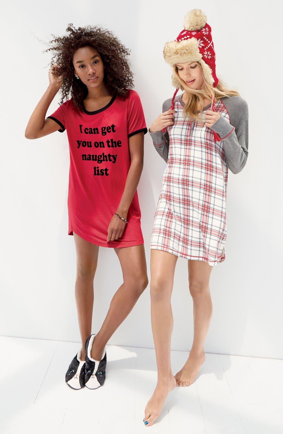 Alternate Image 6  - COZY ZOE Graphic Jersey Sleep Shirt