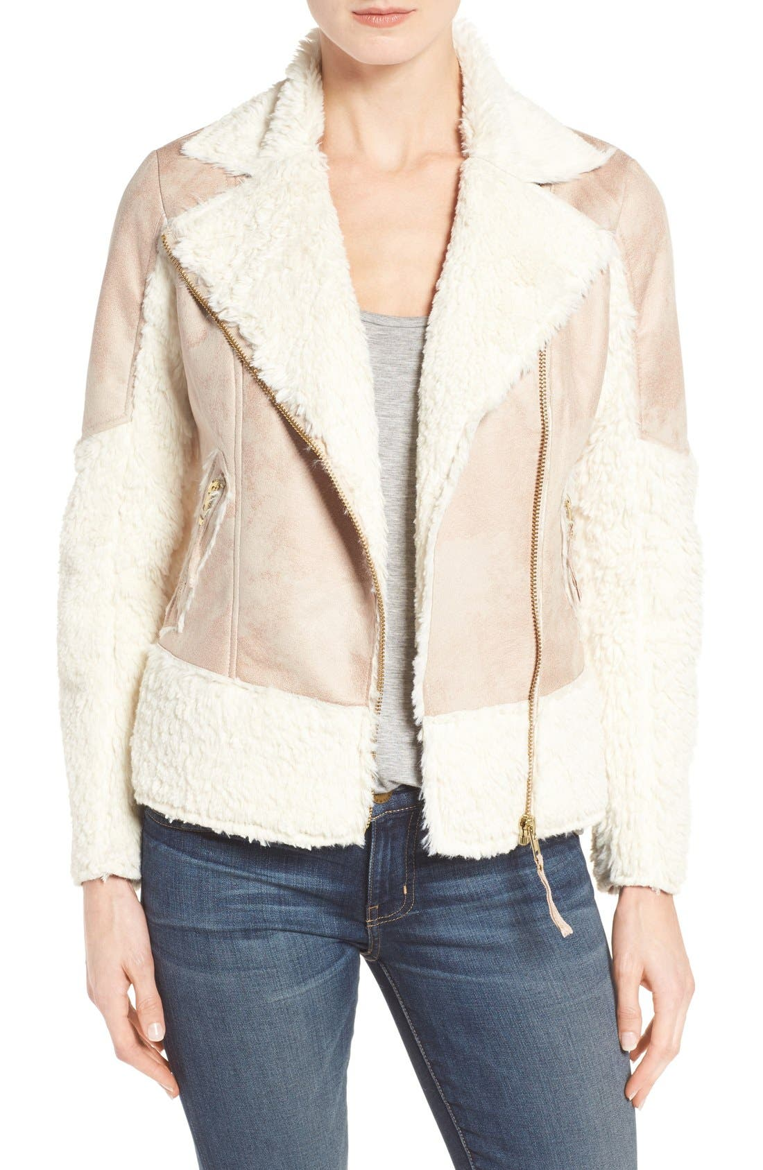 Alternate Image 1 Selected - KUT from the Kloth Baylee Faux Shearling Jacket