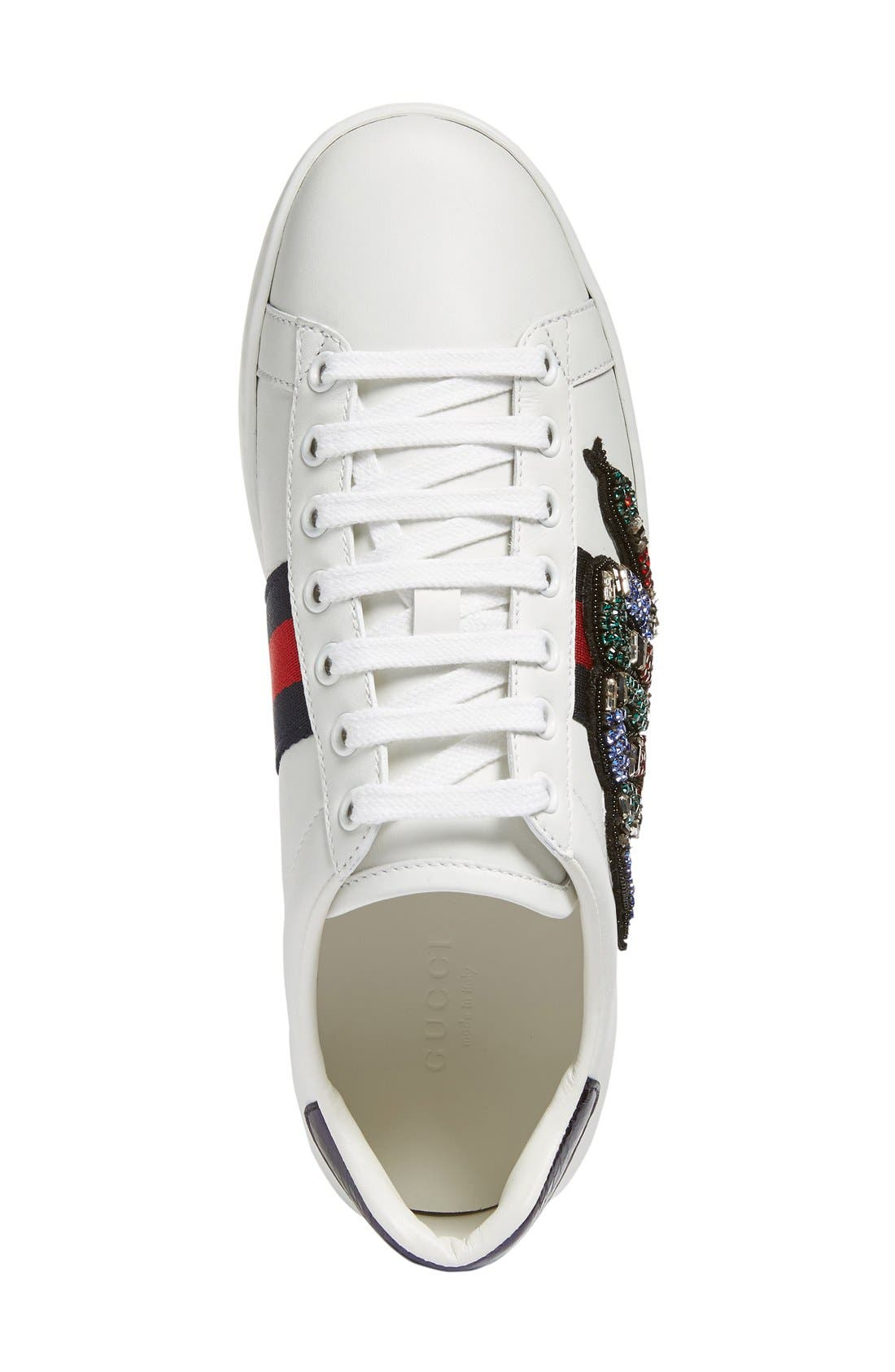 New Age Snake Embellished Sneaker,                             Alternate thumbnail 3, color,                             White Multi