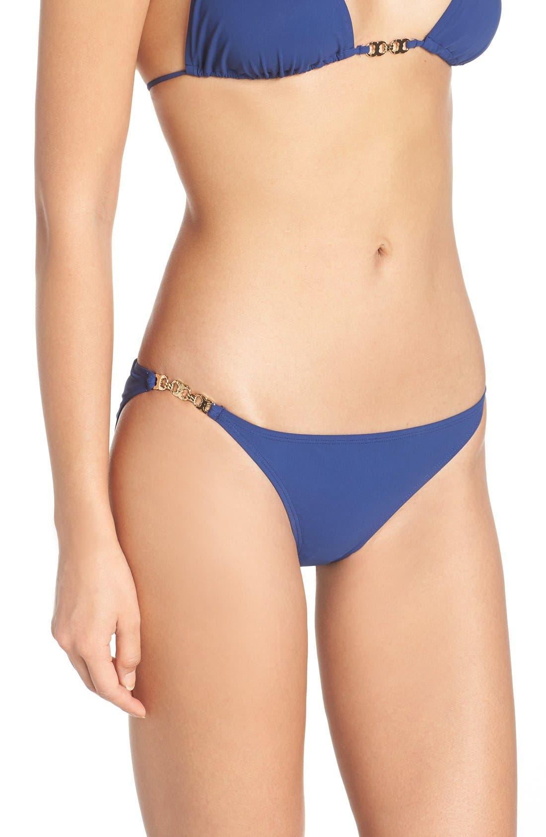 Gemini Link Bikini Bottoms,                             Alternate thumbnail 3, color,                             Capri Blue