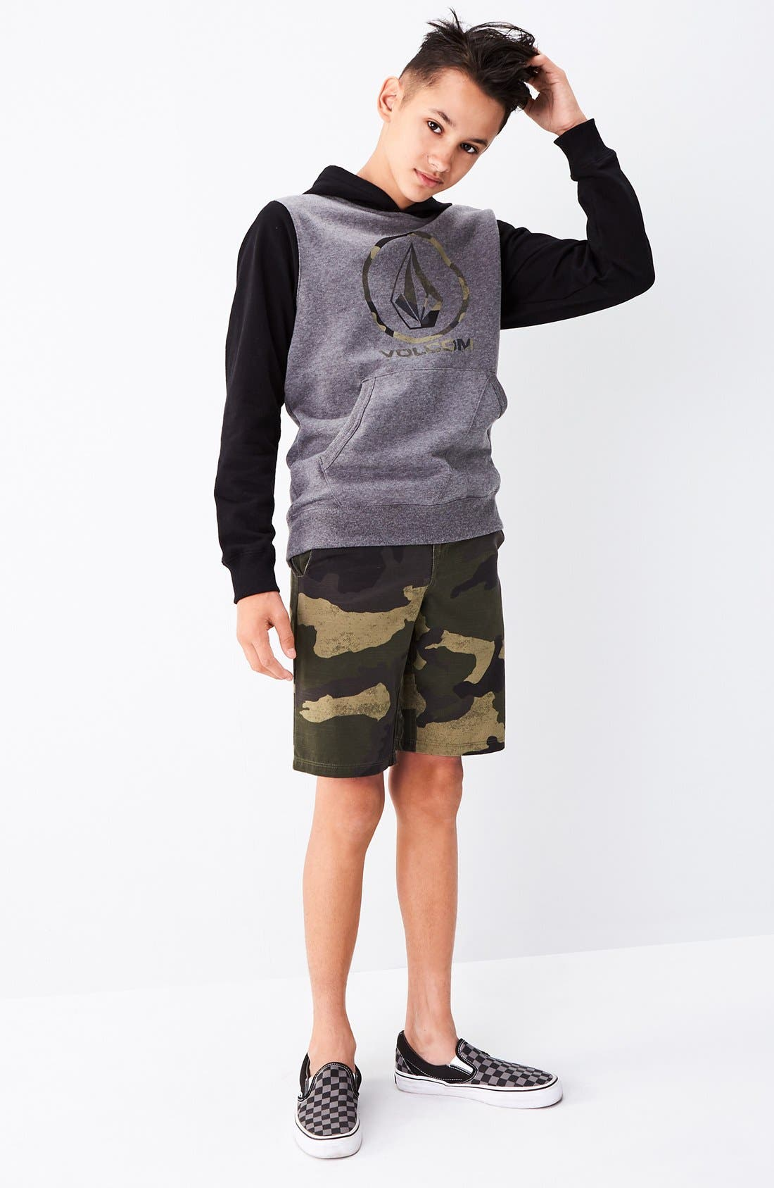 Camo Hybrid Shorts,                             Alternate thumbnail 2, color,                             Light Army
