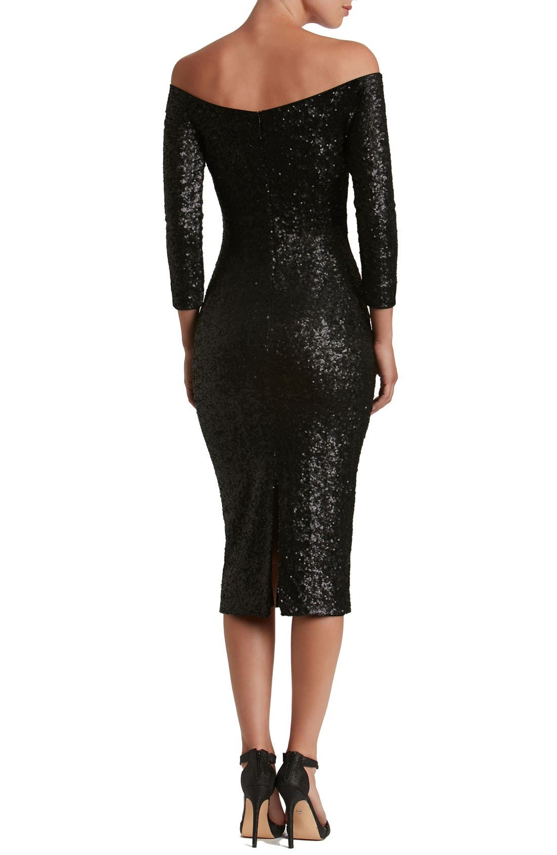 Alternate Image 3  - Dress the Population Addison Sequin Midi Dress