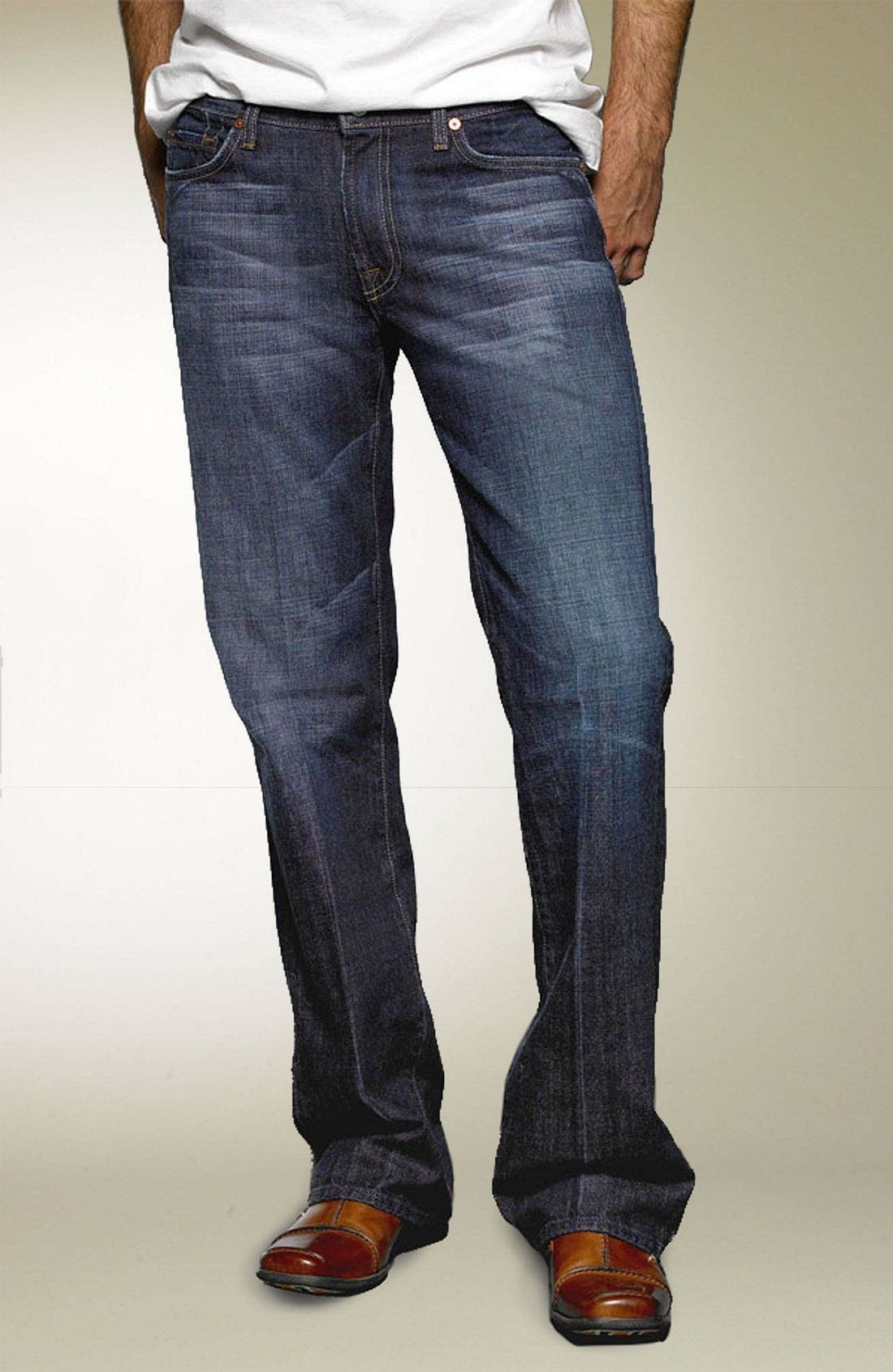 Alternate Image 2  - 7 For All Mankind® Bootcut Jeans (Dark New York)