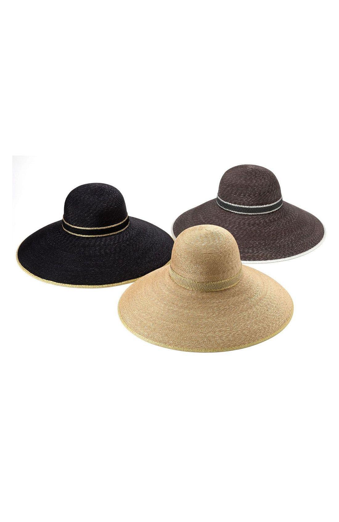 Alternate Image 2  - Nordstrom 'Drama' Metallic Trim Straw Hat