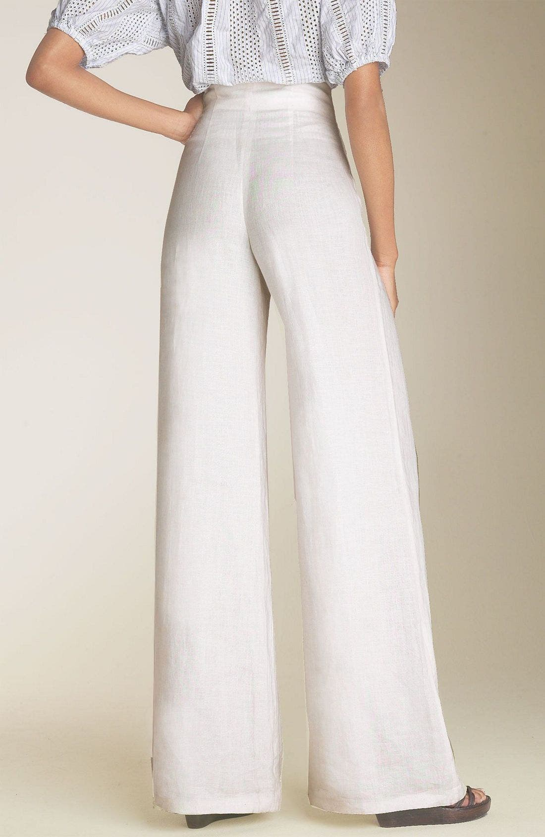 Alternate Image 2  - Organic John Patrick High Waist Crinkled Linen Pants