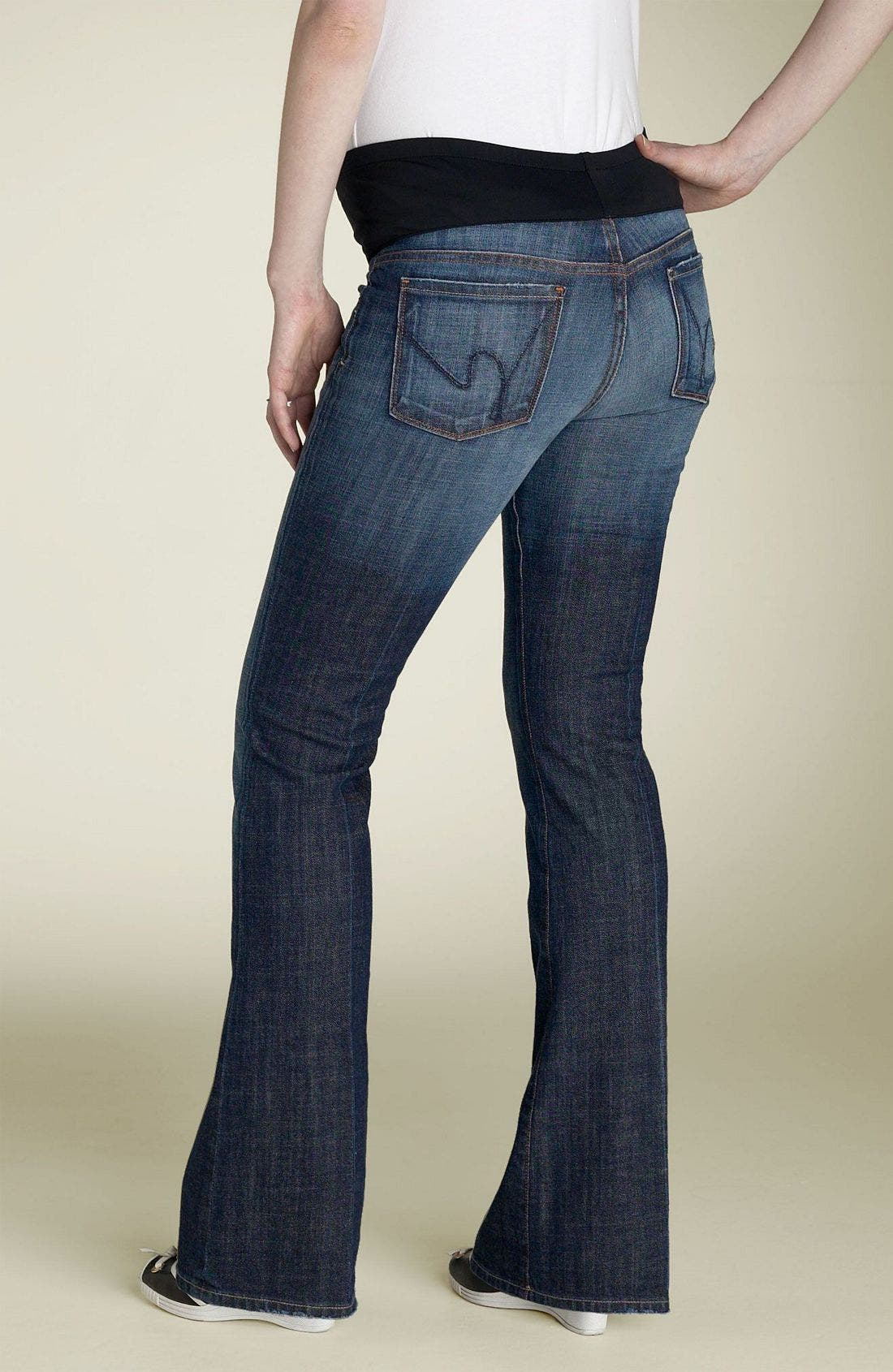 Alternate Image 1 Selected - Citizens of Humanity 'Kelly' Maternity Bootcut Stretch Jeans (New Pacific Blue)