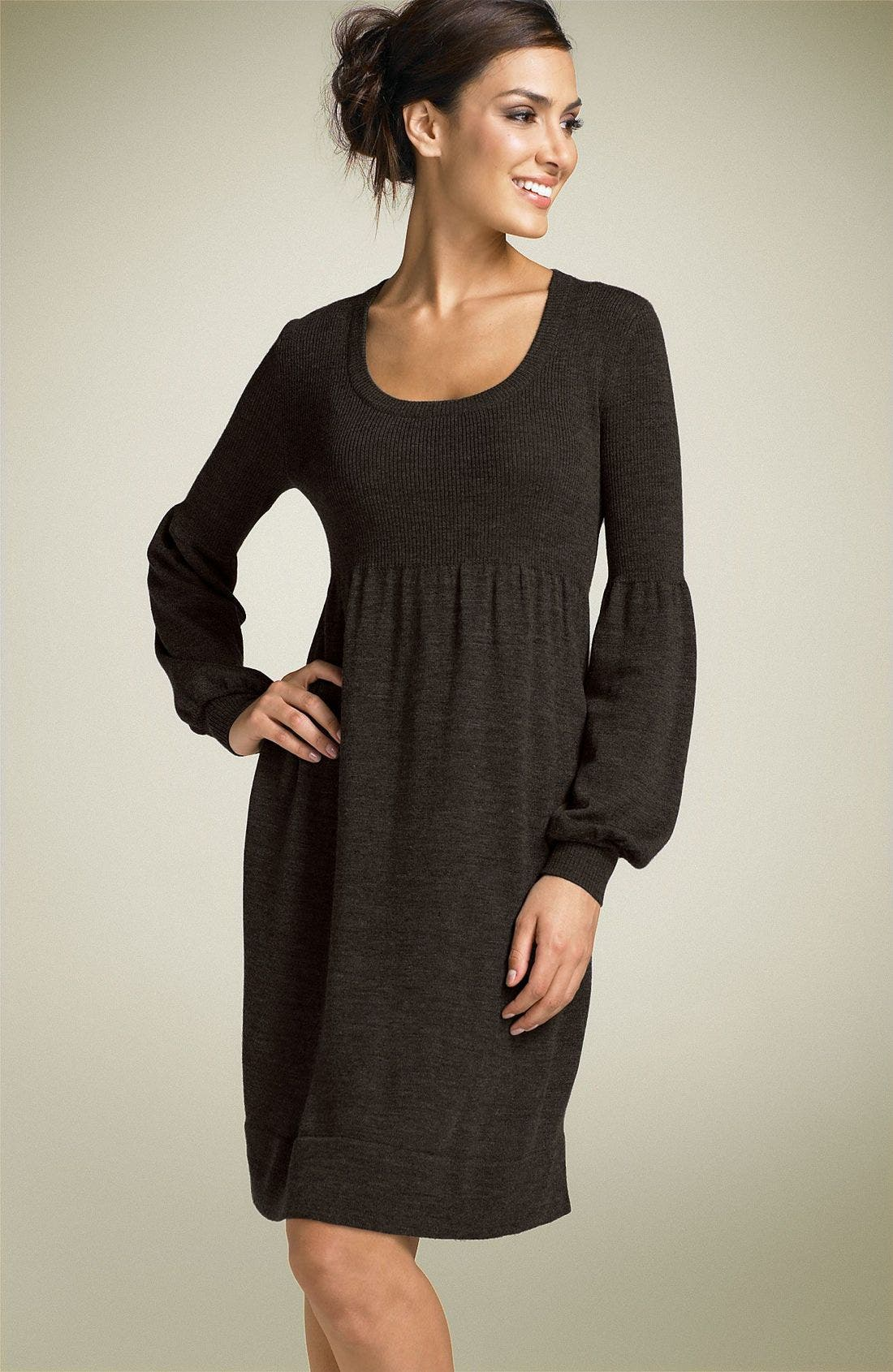 Alternate Image 1 Selected - Calvin Klein Scoop Neck Sweater Dress