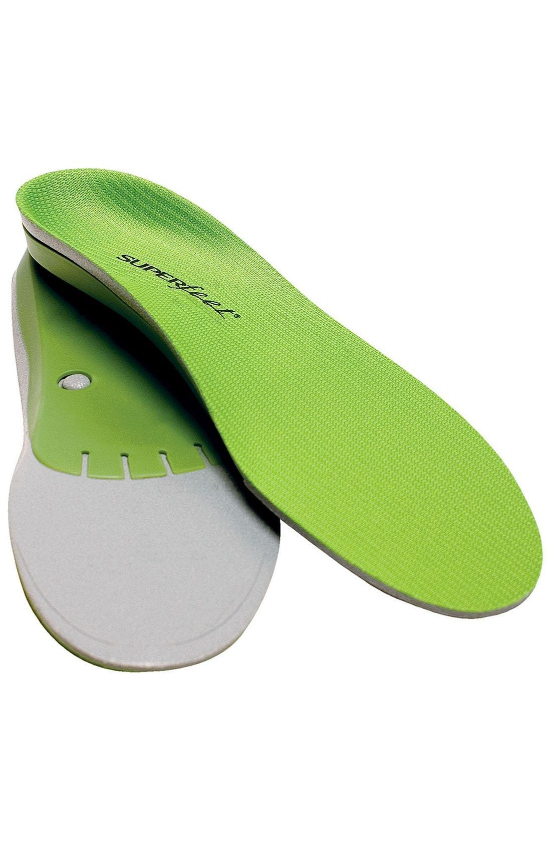 'Performance Green' Insoles,                             Main thumbnail 1, color,                             Green